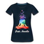 Meditation Girl Premium T-Shirt - deep navy