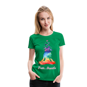 Meditation Girl Premium T-Shirt - kelly green