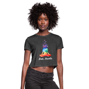 Meditation Girl Cropped T-Shirt - deep heather
