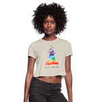 Meditation Girl Cropped T-Shirt - dust