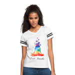 Meditation Girl Vintage Sport T-Shirt - white/black