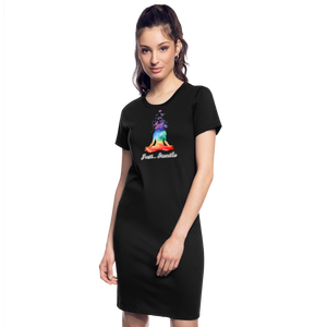 Meditation Girl T-Shirt Dress - black