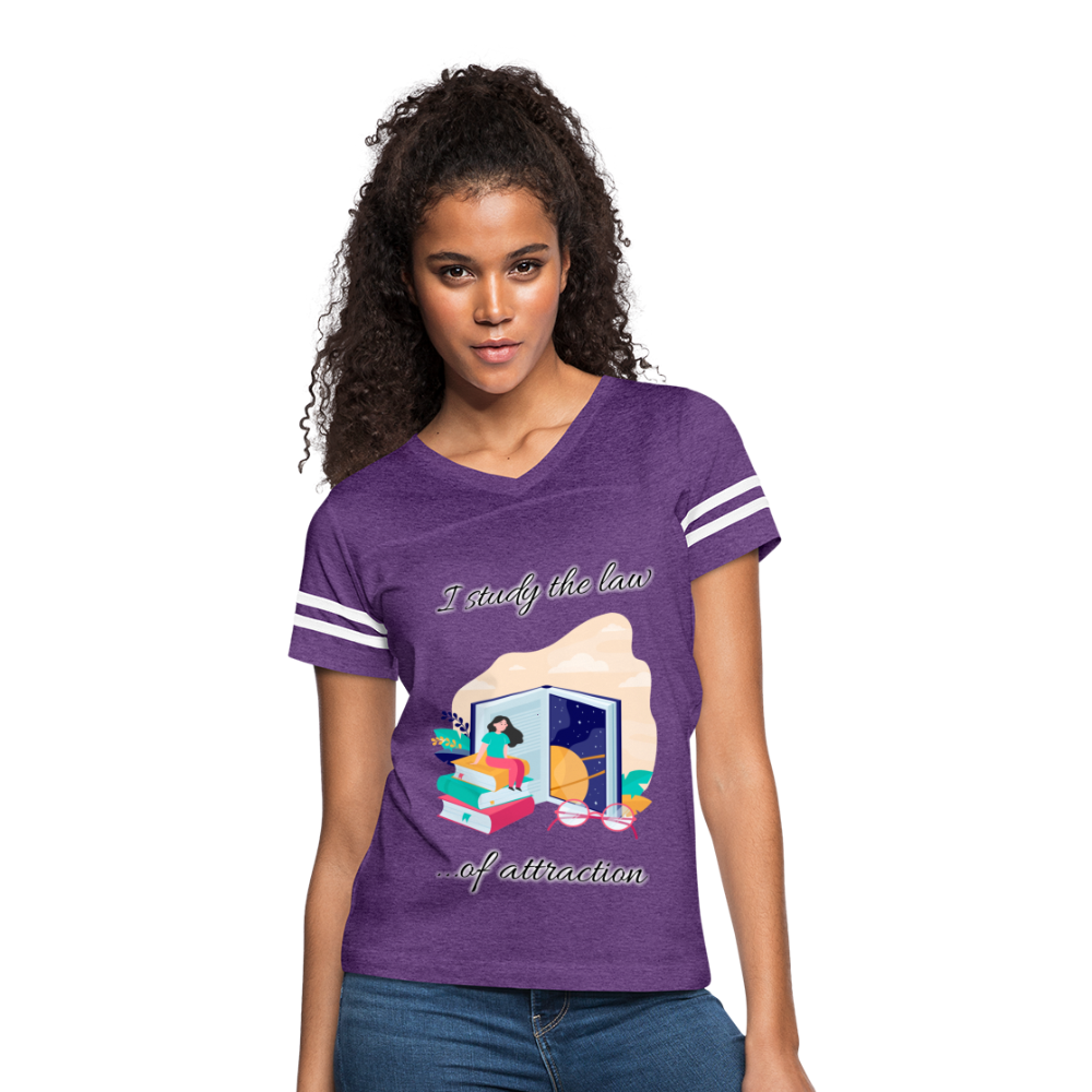 Law of Attraction Vintage Sport T-Shirt - vintage purple/white