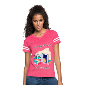 Law of Attraction Vintage Sport T-Shirt - vintage pink/white