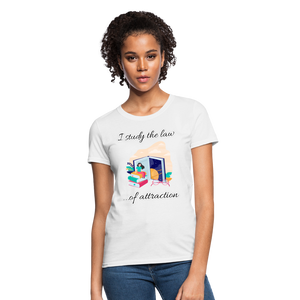 Law of Attraction T-Shirt - white