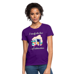 Law of Attraction T-Shirt - purple