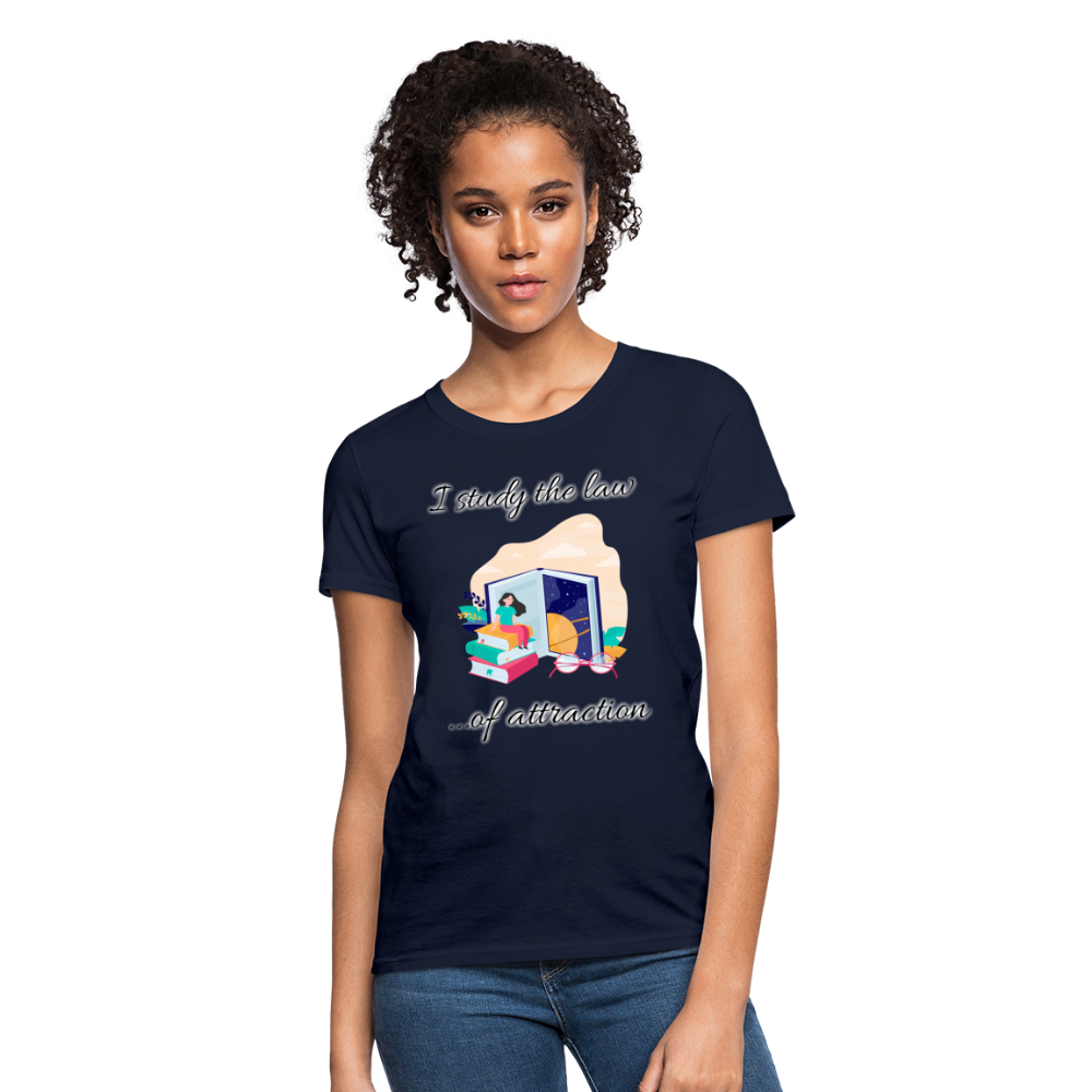 Law of Attraction T-Shirt - navy