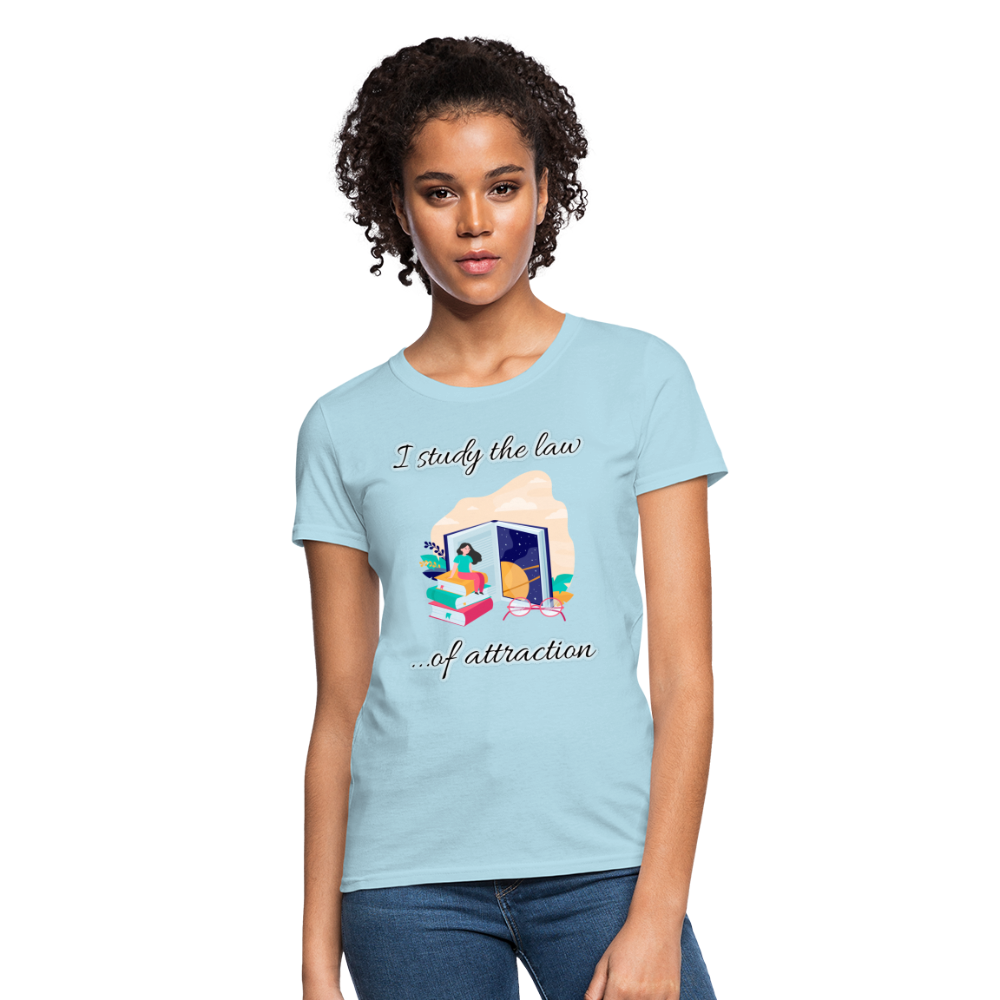 Law of Attraction T-Shirt - powder blue