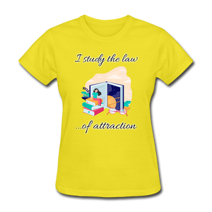 Law of Attraction T-Shirt - yellow