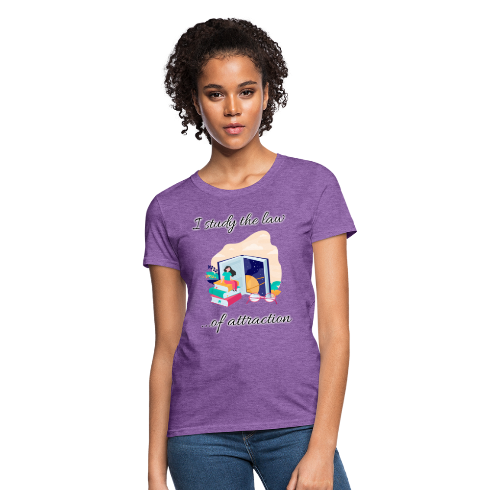 Law of Attraction T-Shirt - purple heather