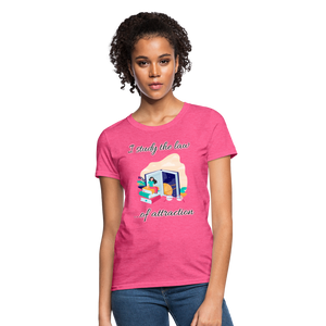 Law of Attraction T-Shirt - heather pink
