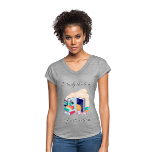 Law of Attraction Tri-Blend V-Neck T-Shirt - heather gray