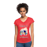 Law of Attraction Tri-Blend V-Neck T-Shirt - heather red