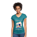 Law of Attraction Tri-Blend V-Neck T-Shirt - heather turquoise