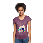 Law of Attraction Tri-Blend V-Neck T-Shirt - heather plum