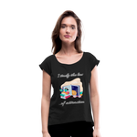 Law of Attraction Roll Cuff T-Shirt - black