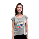 Law of Attraction Roll Cuff T-Shirt - heather gray