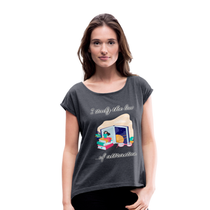 Law of Attraction Roll Cuff T-Shirt - navy heather