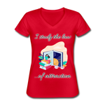 Law of Attraction V-Neck T-Shirt - red