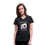 Law of Attraction V-Neck T-Shirt - black