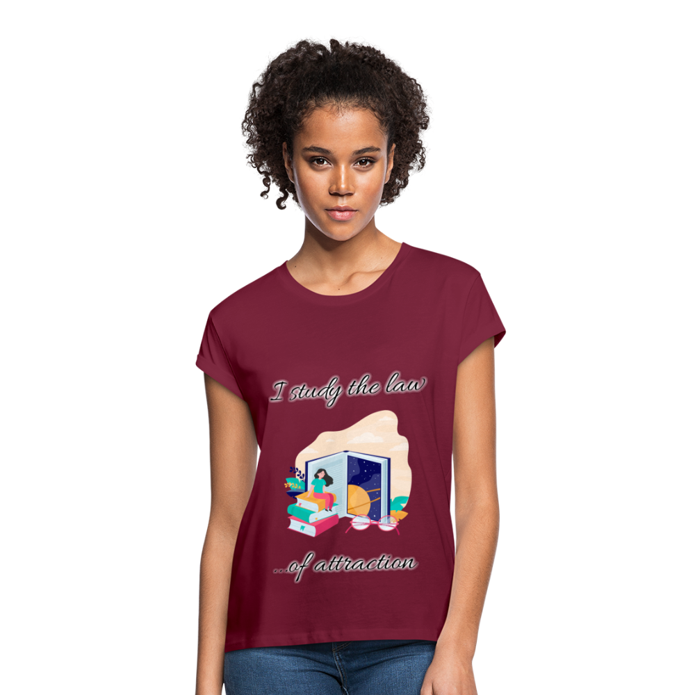 Law of Attraction Relaxed Fit T-Shirt - burgundy