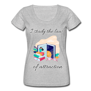 Law of Attraction Scoop Neck T-Shirt - heather gray