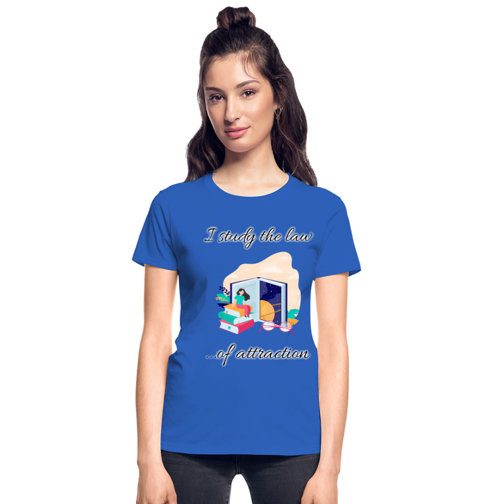 Law of Attraction Ultra Cotton Ladies T-Shirt - royal blue