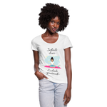 Inhale Love Exhale Gratitude Scoop Neck T-Shirt - white