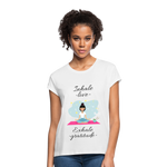 Inhale Love Exhale Gratitude Relaxed Fit T-Shirt - white