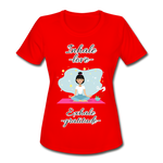 Inhale Love Exhale Gratitude Moisture Wicking Performance T-Shirt - red