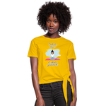 Inhale Love Exhale Gratitude Knotted T-Shirt - sun yellow