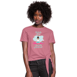 Inhale Love Exhale Gratitude Knotted T-Shirt - mauve