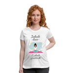 Inhale Love Exhale Gratitude Maternity T-Shirt - white
