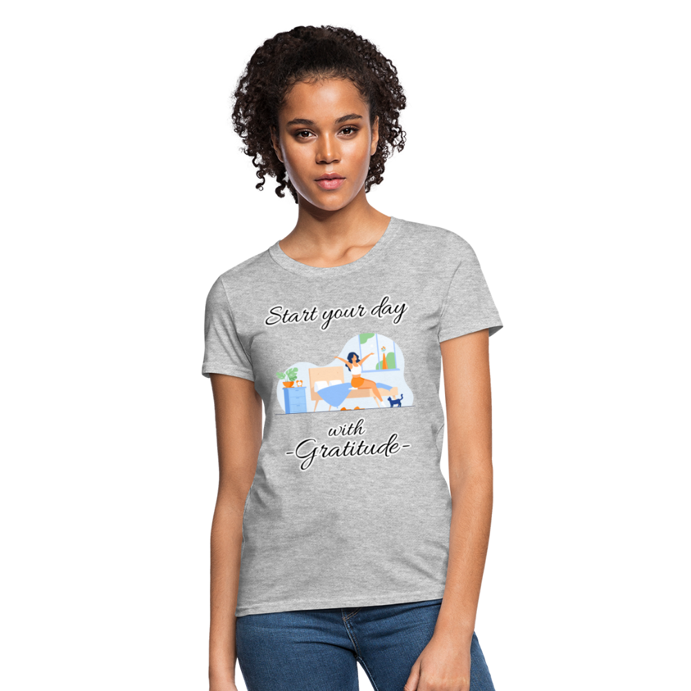 Start Your Day With Gratitude T-Shirt - heather gray
