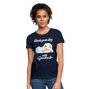 Start Your Day With Gratitude T-Shirt - navy