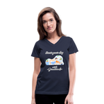 Start Your Day With Gratitude V-Neck T-Shirt - navy