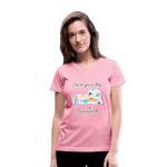 Start Your Day With Gratitude V-Neck T-Shirt - pink