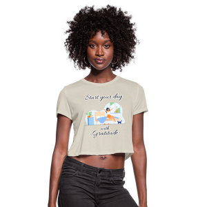 Start Your Day With Gratitude Cropped T-Shirt - dust