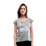 Start Your Day With Gratitude Roll Cuff T-Shirt - heather gray