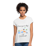 Start Your Day With Gratitude Relaxed Fit T-Shirt - white