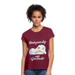 Start Your Day With Gratitude Relaxed Fit T-Shirt - burgundy
