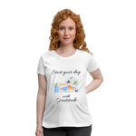 Start Your Day With Gratitude Maternity T-Shirt - white