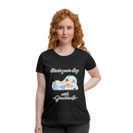Start Your Day With Gratitude Maternity T-Shirt - black