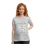 Start Your Day With Gratitude Maternity T-Shirt - heather gray