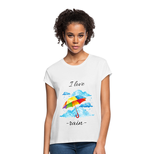 I Love Rain Relaxed Fit T-Shirt - white