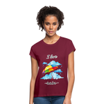 I Love Rain Relaxed Fit T-Shirt - burgundy