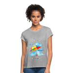 I Love Rain Relaxed Fit T-Shirt - heather gray