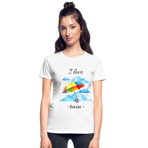 I Love Rain Ultra Cotton Ladies T-Shirt - white