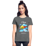 I Love Rain Ultra Cotton Ladies T-Shirt - deep heather