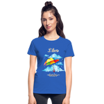 I Love Rain Ultra Cotton Ladies T-Shirt - royal blue